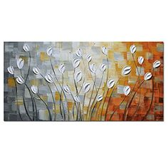 $55 Asdam Art - Oil Paintings on Canvas Budding Flowers 100% ... https://www.amazon.com/dp/B01DIKMEFC/ref=cm_sw_r_pi_dp_x_4mlhybB2SJS2W