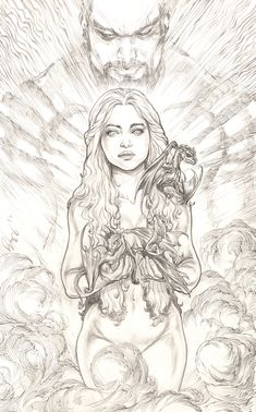 Daenerys Targaryen , Khaleesi by ~justbuzz on deviantART.  Probably one of the most beautiful pieces i've seen.