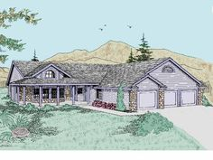 Country House Plan with 2221 Square Feet and 3 Bedrooms(s) from Dream Home Source | House Plan Code DHSW07505