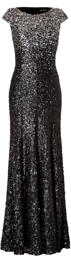 Jenny Packham ● Silver Sequined Gown