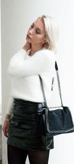 Beige Lantern Sleeve Fuzzy Sweater