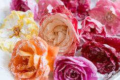 Kandierte Rosen   Madame Dessert