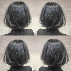 It is popular now! What is Bruges not Greige? It is popular now! What is Bruges not Greige? Kpop Hair Color, Ash Gray Hair Color, Korean Hair Color, Shot Hair Styles, Curly Hair Styles, Dark Grey Hair Charcoal, Ash Hair, My Hairstyle, Hairstyles