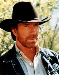 Chuck Norris in front of the Mann Theater in Tarzana.
