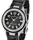 ANNE KLEIN Black and Silver Ceramic Bracelet Watch NEW! - Anne, Black, bracelet, Ceramic, Klein, silver, Watch - http://designerjewelrygalleria.com/anne-klein-jewelry/anne-klein-bracelets/anne-klein-black-and-silver-ceramic-bracelet-watch-new/