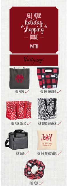 Get your Holiday Shopping done with Thirty-One!!!    http://www.thirtyonegifts.com/