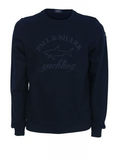 Paul and Shark Tonal Oversized Logo Sweat - Navy
