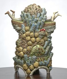 Whimsical Ceramic Sculptures of Tiny Figures Exploring Fantastical Organic Structures - My Modern Met