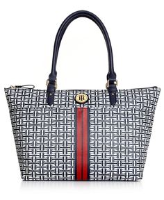 Tommy Hilfiger Handbag, Americana Logo Tote - All Handbags - Handbags & Accessories - Macys