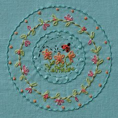 Embroidery stitch practice.
