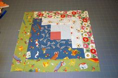 Log Cabin Quilt Block Pattern