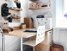 Annes finurlige univers - for dem der elsker indretning. Bureau Design, Office Desk, Corner Desk, Diy, Furniture, Home Decor, Small Desk Lamp, Homemade Desk, Wall Desk