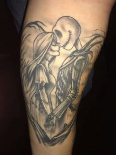 Jack & Sally, Nightmare Before Christmas tattoo