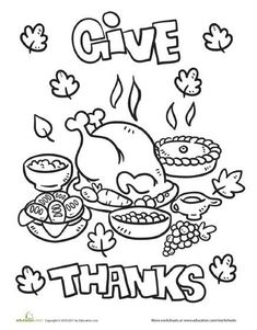 Give Thanks (our kids will!) - great activity page - think we'll do a fabric collage:) from Education.com