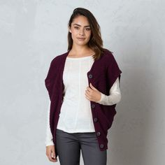 It's hard to have great office style if your office is either freezing or stuffy and hot. This lovely Estee Sweater from Prana is perfect for layering.
