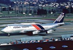 Flying Tigers Boeing 747-200F; N806FT@ZRH, March 1983/AZP
