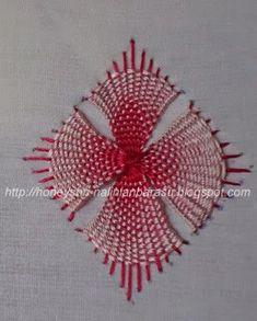 NaliniAnbarasu's Embroidery: VARIATION OF KADAI KAMAL STITCH