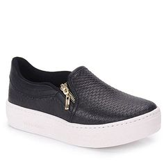 Slip On Feminino Via Marte - Preto