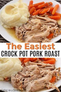 This Crock Pot Pork Roast is tender and delicious with very little work. The pork falls apart from being slow cooked and each bite is so flavorful. Best Pork Roast Recipe, Pork Pot Roast, Slow Cooker Pork Roast, Pork Roast Recipes, Boston Butt Crock Pot Recipe, Pork Loin Crock Pot, Pork Roast Marinade, Pork Shoulder Recipes, Crockpot Pork Shoulder Roast