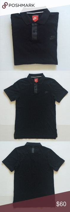 [Nike] men's black short sleeved polo shirt M [Nike] men's black short sleeved polo shirt M •🆕listing •excellent condition, NWOT, new without tags •black with black screen detail, new age style/materials •material 100% cotton •some wrinkles, not washed •offers welcomed using the offer feature or bundle for the best discount•••• Nike Shirts Polos