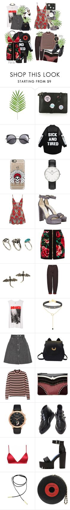 """Burning cities LM"" by voidjesy ❤ liked on Polyvore featuring Topshop, Wood Wood, Casetify, Daniel Wellington, Loeffler Randall, Jimmy Choo, ASOS, Balmain, Hot Topic and Boutique"