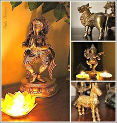Brass Collectibles, brass collection, Brass Décor, Brass Vignettes, Diwali Décor, Diwali Inspiration, Indian Festivals décor, Indian home décor