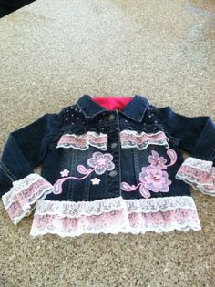 Embellished Jean Jackets | January 2013: Embellished Denim Jacket for Baby Girl. This one is for ...