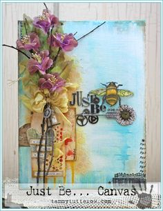 Tammy Tutterow | Just Be Canvas | Ranger Ink Designers Challenge