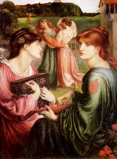 Dante Gabriel Rossetti, The Bower Meadow, 1871-1872, oil on canvas, 85.1 x 67.3 cm, Manchester City Art Galleries