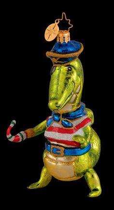 RADKO Pep O Mint Alligator Crocodile Pirate Ornament #Flags