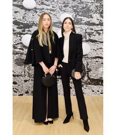 Este Haim and Danielle Haim wore Chloé with the Pixie and Nile bracelet bags at the Chloé x MOCA dinner #chloeGIRLS