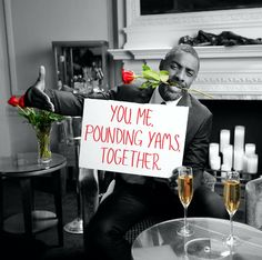 Idris Elba promoting the We Can Lead campaign for Valentine's Day