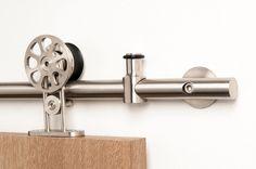 Schuifdeursysteem spaak RVS 2000 mm - Stoer, dit schuifdeurbeslag voor een sfeervolle loftdeur!