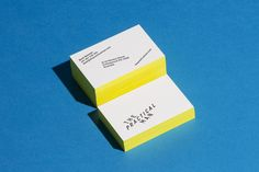 Brand identity and edge painted business cards for online sports and fashion retailer The Practical Man by Australian graphic design studio Garbett