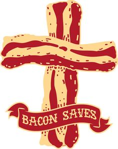 Bacon Saves Art Print by LookHUMAN