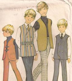 1970's Sewing Pattern - McCall's 3120 Boys shirt pants Size 8 - used and complete