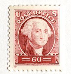 10 Unused Vintage George Washington Stamps // Vintage Founding Father // 60 Cent Postage Stamps for Mailing Vintage Pink, Etsy Vintage, German Stamps, Red Wedding Invitations, Vintage Lettering, George Washington, Washington Dc, Vintage Stamps, Founding Fathers