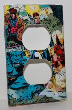 Xmen Marvel Wolverine Resin Plug Socket Cover by wookiedesign, $16.99