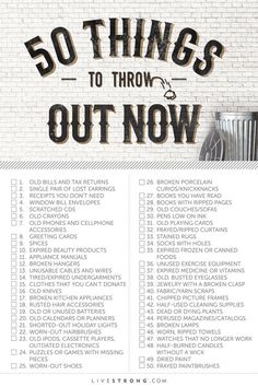 50 things to throw out now.