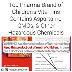 "Anything that is heavily marketed with an extreme push and flooding magazine ads kids tv and your Dr. (Sadly) should always be researched. I've never given these to my   #Repost @vegantake0ver  Kids vitamins are supposed to be healthy right? Well then what's going on with Flintstones Vitamins which proudly claims to be ""Pediatricians' #1 Choice""? Produced by the global pharmaceutical corporation Bayer this wildly successful brand features a shocking list of unhealthy ingredients including…"