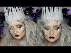 Ice Queen Makeup Tutorial | DIY Ice Crown | Jordan Hanz - YouTube