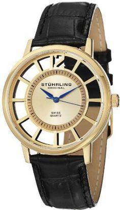 Stuhrling Original Men's 388S.333531 Classic Winchester Swiss Quartz Gold-Tone Watch Set: Watches: Amazon.com