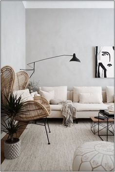 Modern minimalism in the home of tthesebeautifulthingss The grey limestone walls adds depth to the monochromatic palette We love this mix of the leather ottoman graphic. Design Living Room, Living Room Sofa, Living Room Decor, Bedroom Decor, Cream Living Rooms, Ikea Bedroom, Bedroom Furniture, Dining Room, Söderhamn Sofa