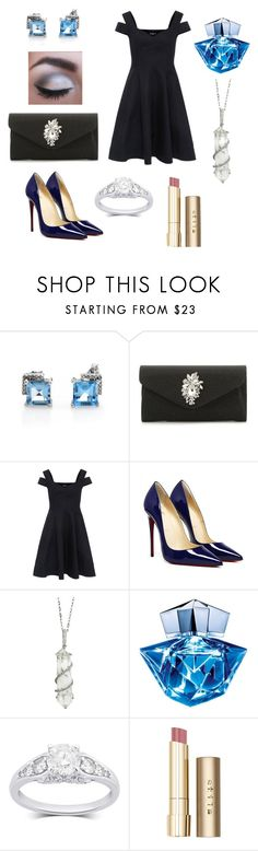 """""""Ice Queen"""" by sarahhill-sgh ❤ liked on Polyvore featuring Paule Ka, Sharon Khazzam, Thierry Mugler and Stila"""