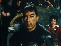 "Anthony Quinn as ""Attila"" (Atila the Hun) in 1954 film"