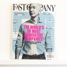Love this cover design. Doubles as a dartboard. @fastcompany #fastcompany #amazon #bezos #netflix #alibaba #casper #apple #snapchat #uber #airbnb