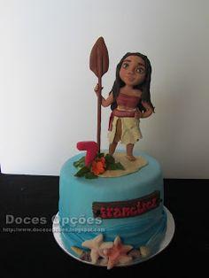 Doces Opções: A Vaiana no 7º aniversário da Francisca Birthday Cake, Desserts, Cakes, Tailgate Desserts, Deserts, Birthday Cakes, Postres, Dessert, Cake Birthday