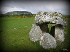 A tomb with a view. Carrowmore Megalithic Cemetery with Knocknarea in the background.