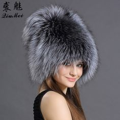 QiuMei Bomber Hats Women Real Fox Raccoon Fur Bombers Hat Solid Russian  Winter Trapper Hats Caps 5b2be1acaf32