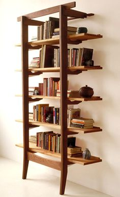 Modern Luxury Office Leaning Shelves Storage Furniture Design City Joinery Brooklyn NYC
